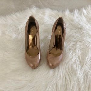 Shimmery Nude Marciano Pumps, 5.5
